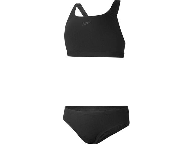 speedo Essential Endurance+ Medalist Bikini Girls black